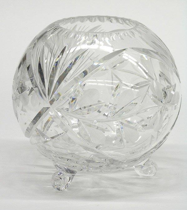 16: Cut glass rose bowl
