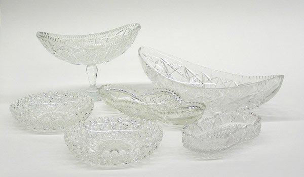 18: Cut and pressed glass bowls