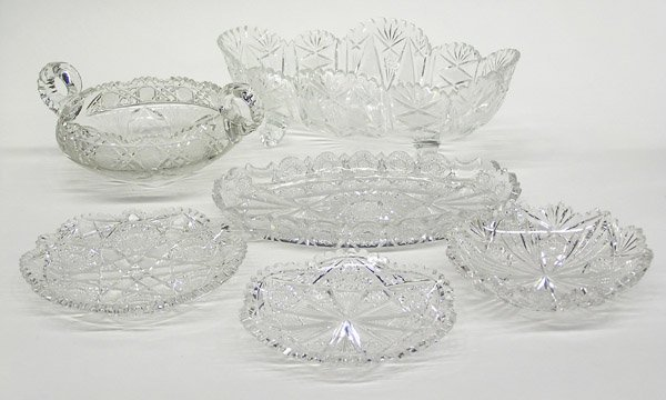 20: Cut and pressed glass items