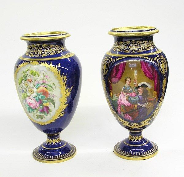 138: Porcelain urns Sevres style