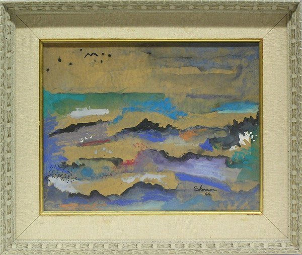 2006: painting Abstract Seascape Syd Soloman