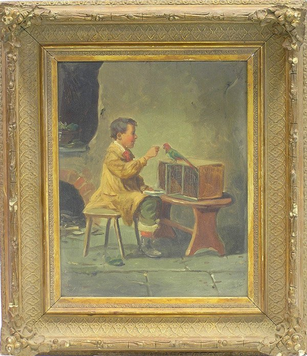 2015: painting Boy Parrot 19th C