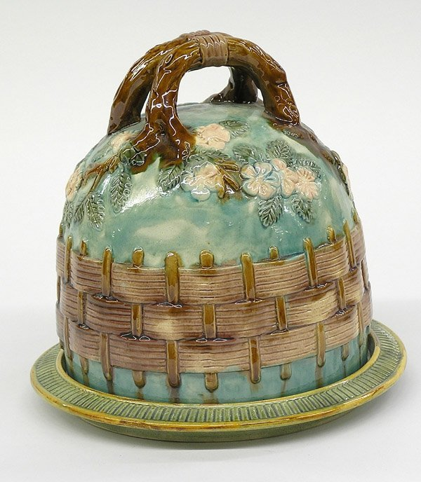 2017: Majolica inspired pottery cheese dome