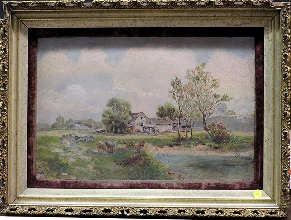 4000: Oil painting, pastoral, American, 19th
