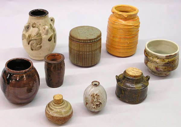 4003: Seven Mid-20th C. Studio Pots