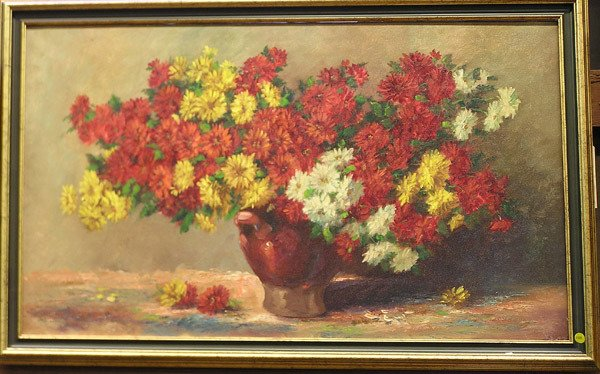 4006: Oil painting, floral still life, Dutch