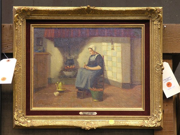 4008: Oil painting, Dutch, H. van Langen