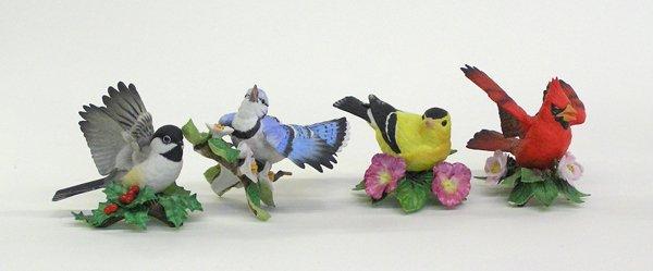 4012: Lenox polychromed bisque birds