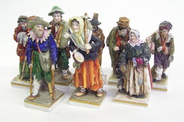 4024: Capo di Monte figures rural men women