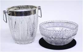 4040: Cut crystal bowl ice bucket