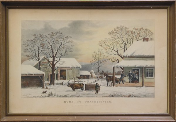 4339: Lithograph, Currier and Ives, Home