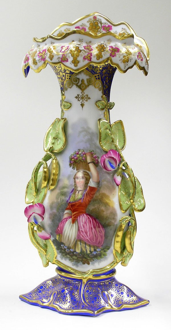6000: Tall gilt enameled urn cameo