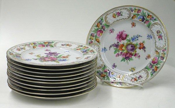6004: Dresden Flower Schumann dinner plates