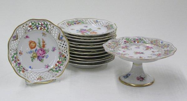 6006: Dresden Flower Schumann dessert plates