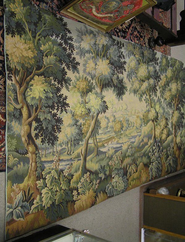 6021: French tapestry depicting landscape