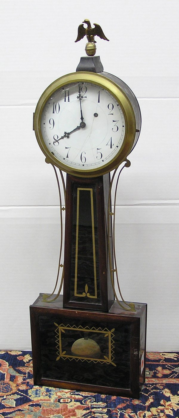 6023: American banjo clock 19th cent