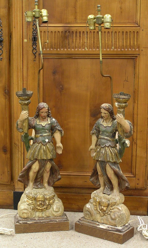 6054: Spanish Colonial candle holders