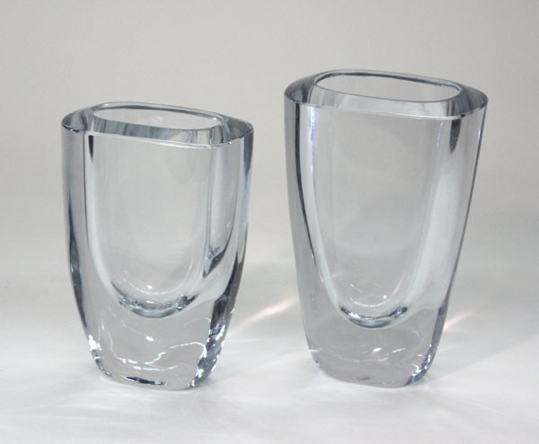 14: clear crystal vases