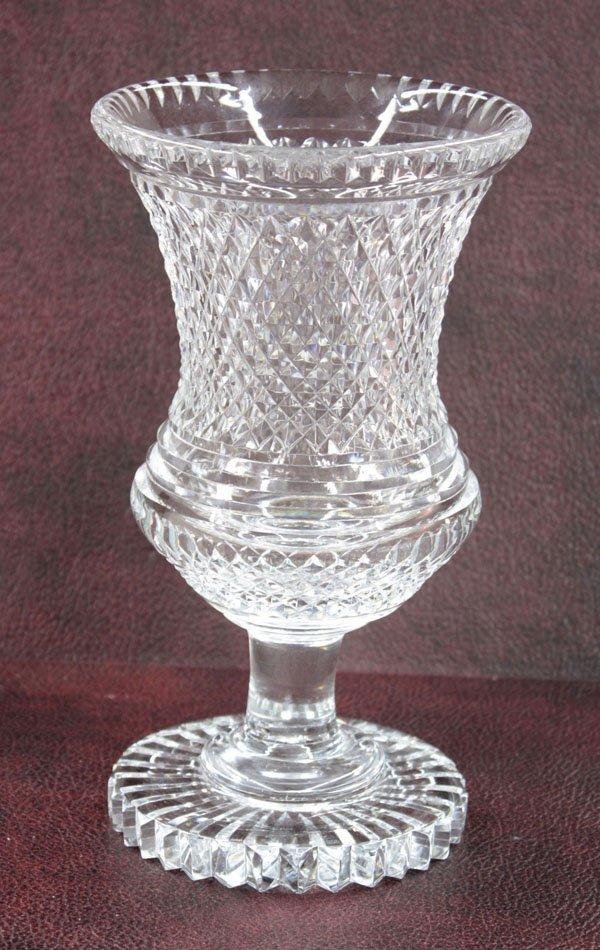 18: Brierley crystal footed vase