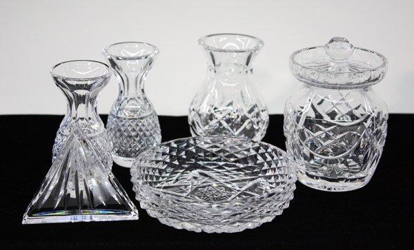 19: Waterford crystal vase jar bowl