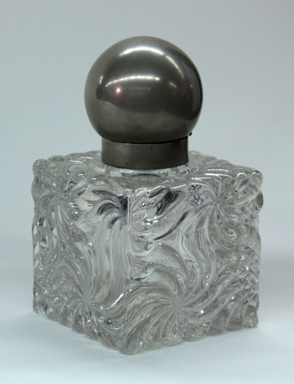 21: Molded glass inkwell