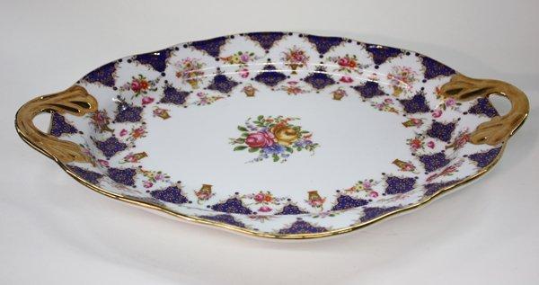 25: Limoges porcelain two handled platter