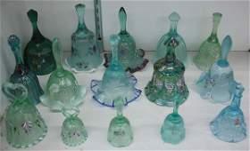 156: Fenton art glass bells