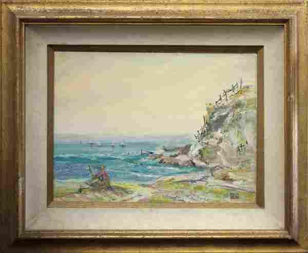 Painting Louise Leyden Dana Point