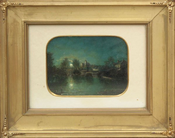 2001: painting oil Montigny-sur-Loing 19th C