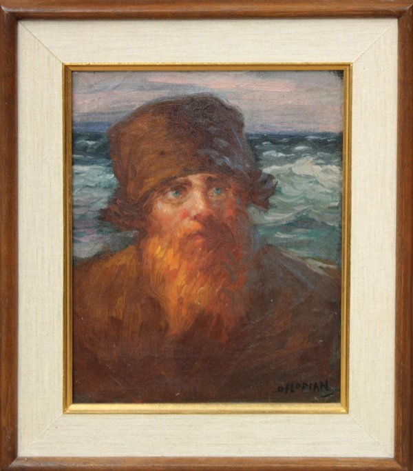 2009: painting oil Portrait Sea Florian