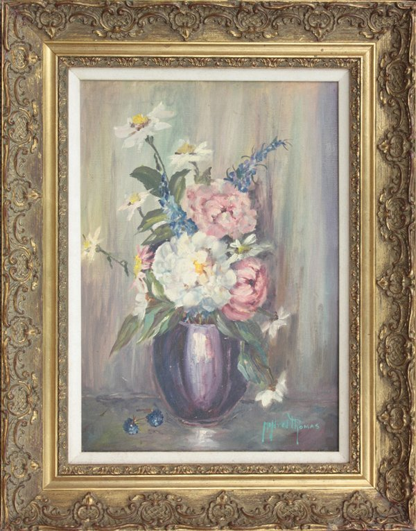 2012: painting oil Floral Mildred Thomas
