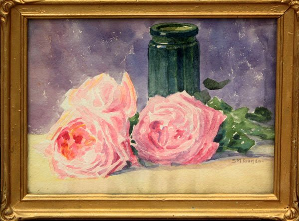 2013: watercolor Still Life Rose Susie Dando