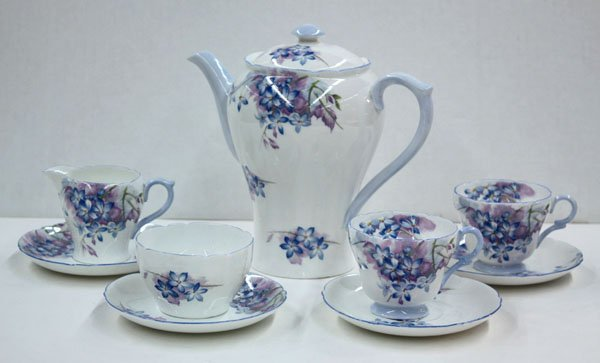 2022: Shelley ''Blue Spray'' bone china set
