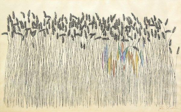 2238: Print Wheat Field Ben Shahn