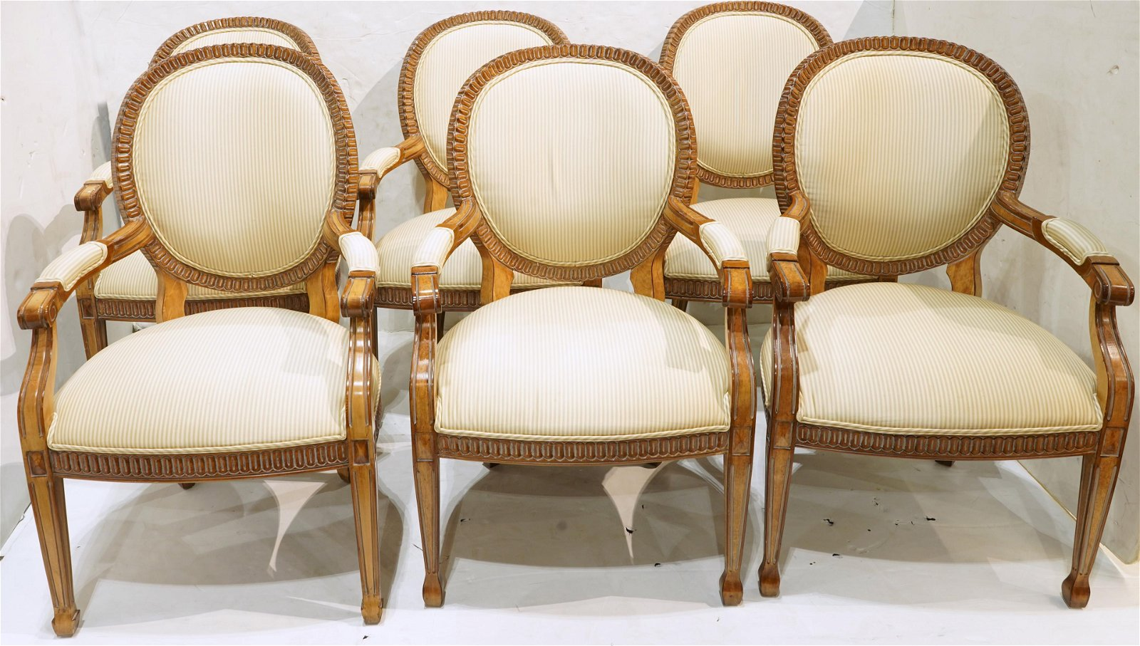 (lot of 6) Modern Italian Neoclassical style carved