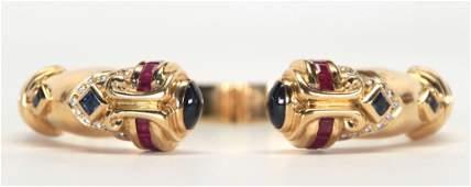 Multistone diamond 18k yellow gold bracelet