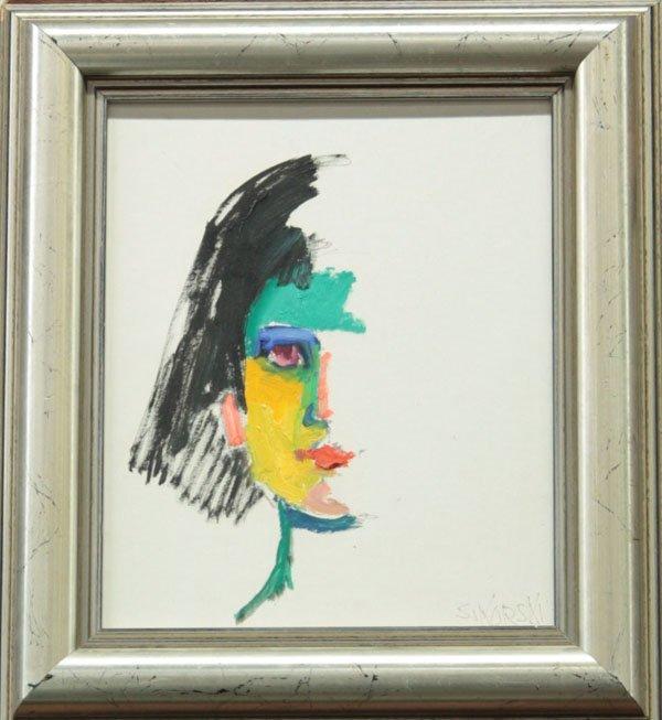 4000: painting, Abstract Face, Eva Sikorski