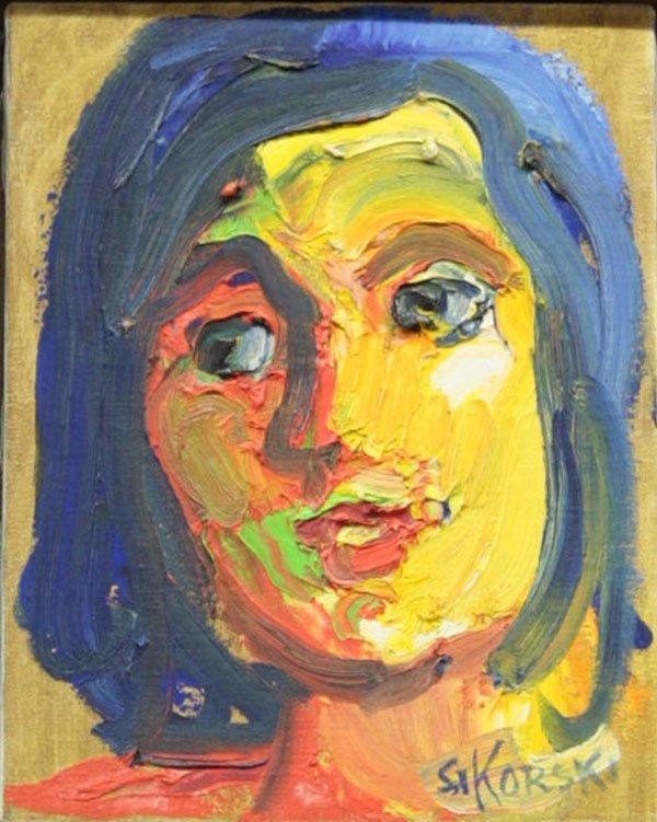 4001: painting, Face, Eva Sikorski
