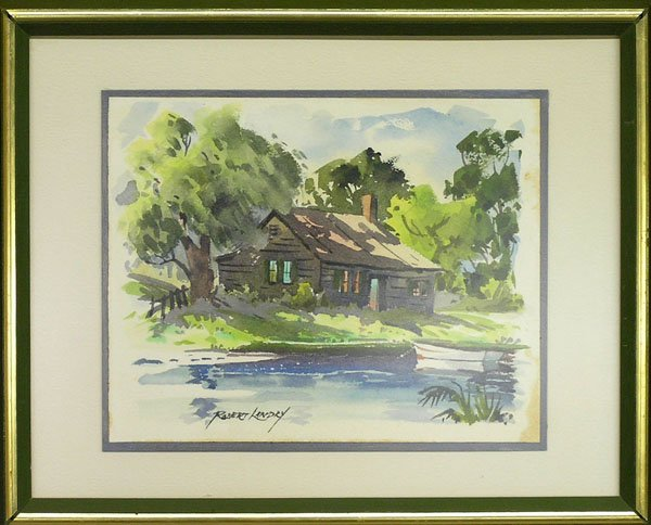 4006: painting House Lake Robert Landry