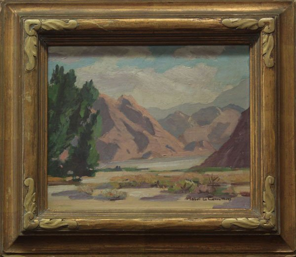 4007: painting, Sierra, Mabel G. Carruthers