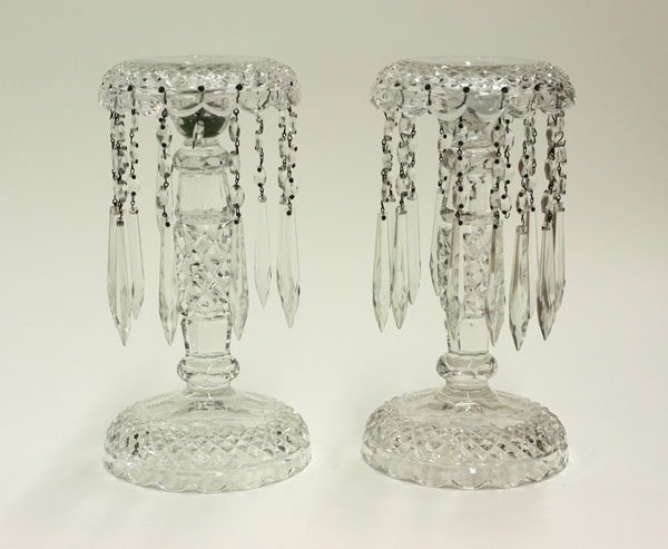 4011: cut crystal candle holders