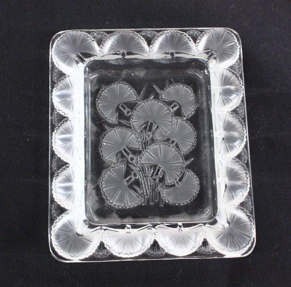 4014: Lalique art glass shallow dish