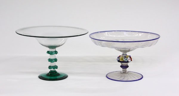 4019: Murano art glass compote