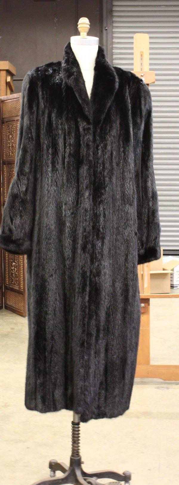 4254: Dennis Basso full black mink coat