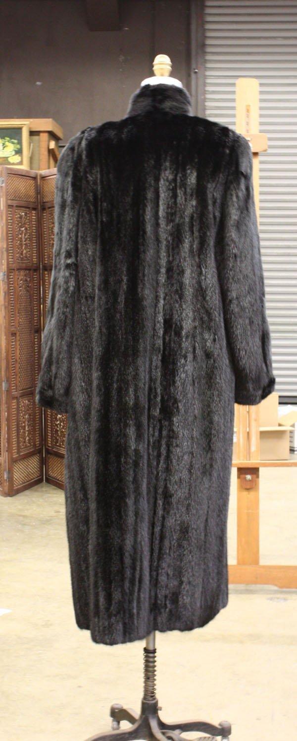4254: Dennis Basso full black mink coat - 2