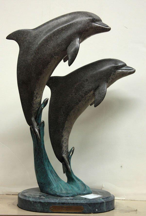 4556: Bronze leaping dolphins, J. Wyatt
