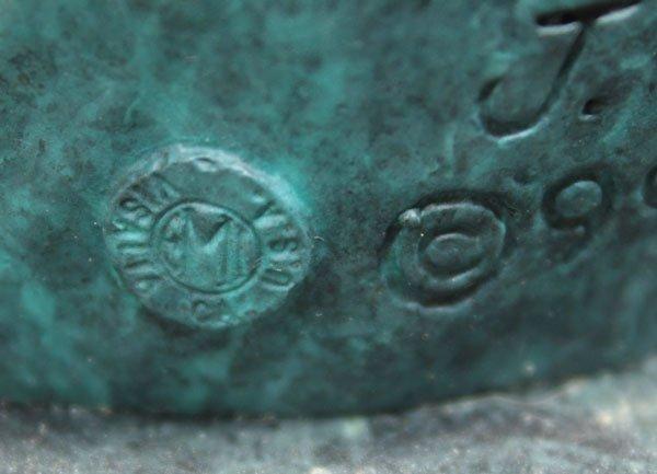 4556: Bronze leaping dolphins, J. Wyatt - 5