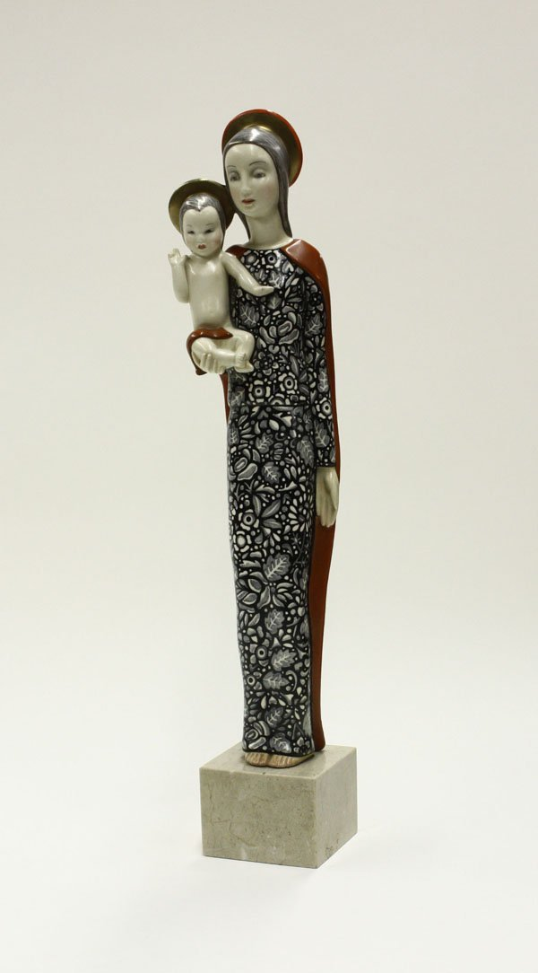 6022: Lenci Ceramic Holy Mother Baby Jesus