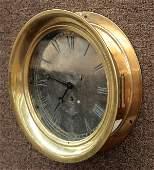 6134: American Steam Gauge & Valve brass clock