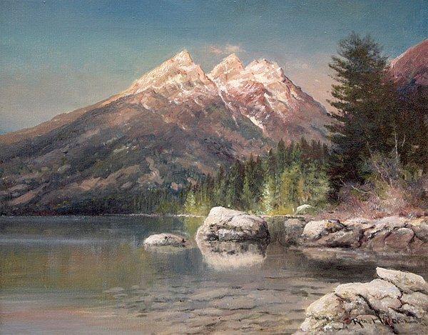 6317: Painting, Robert Wood, Grand Teton